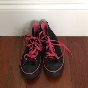 Black and Pink Converse All Star